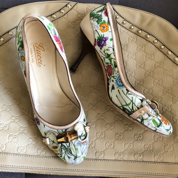 Gucci Shoes | Gucci Floral Print Fabric